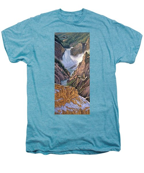 Yellowstone Canyon-osprey Men's Premium T-Shirt by Paul Krapf