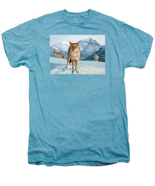 Yellowstone Coyotes Men's Premium T-Shirt by Paul Krapf