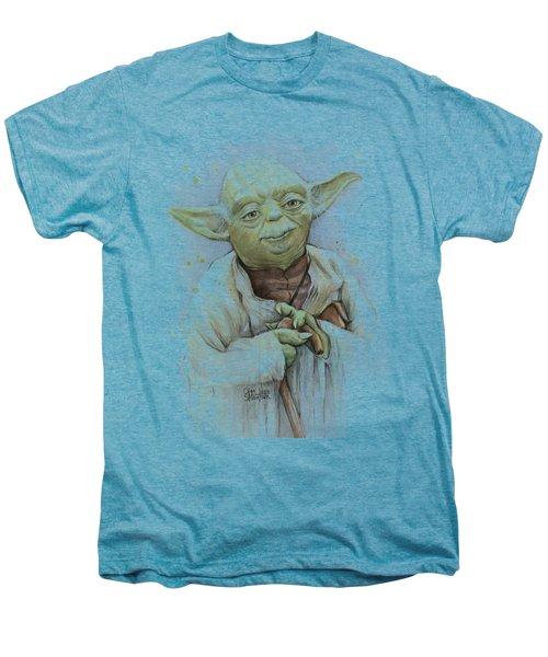Yoda Men's Premium T-Shirt by Olga Shvartsur