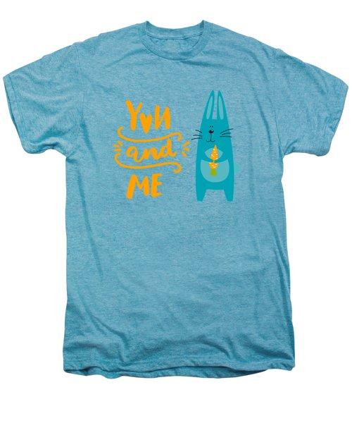 You And Me Bunny Rabbit Men's Premium T-Shirt