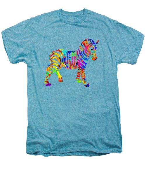 Zebra Men's Premium T-Shirt by Christina Rollo