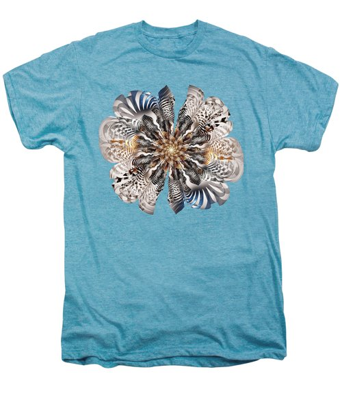 Zebra Flower Men's Premium T-Shirt by Anastasiya Malakhova