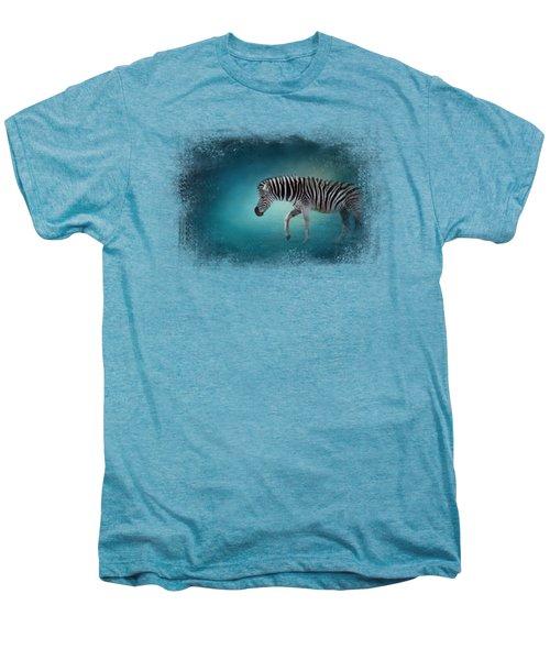 Zebra In The Moonlight Men's Premium T-Shirt by Jai Johnson
