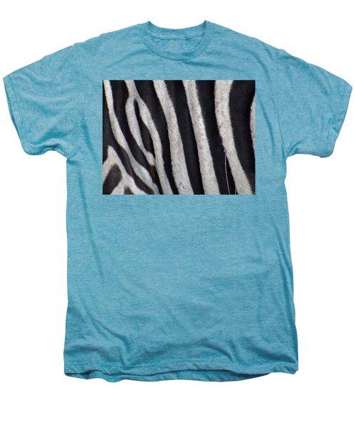 Zebra Skin Closeup Men's Premium T-Shirt