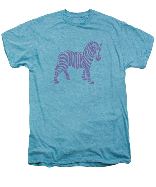 Zebra Stripes Pattern Men's Premium T-Shirt by Christina Rollo