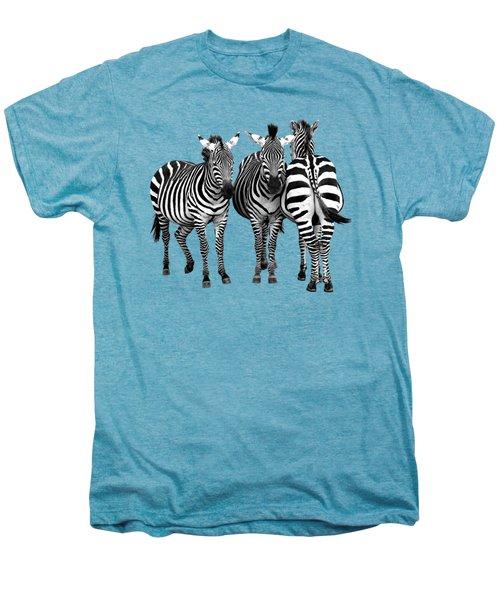 Zebra - Three's A Crowd Men's Premium T-Shirt