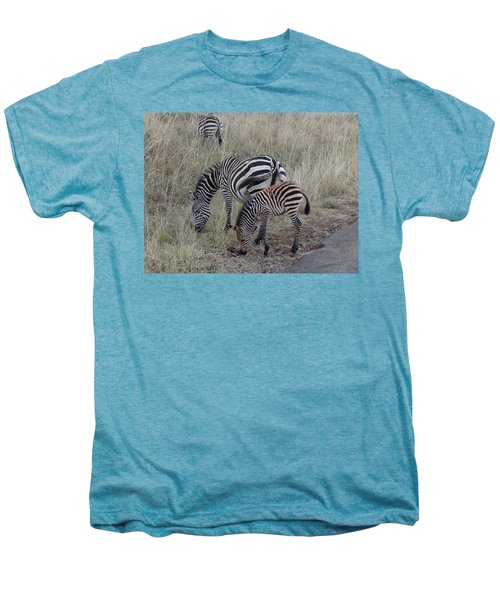 Zebras In Kenya 1 Men's Premium T-Shirt by Exploramum Exploramum