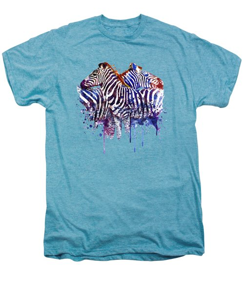 Zebras In Love Men's Premium T-Shirt by Marian Voicu