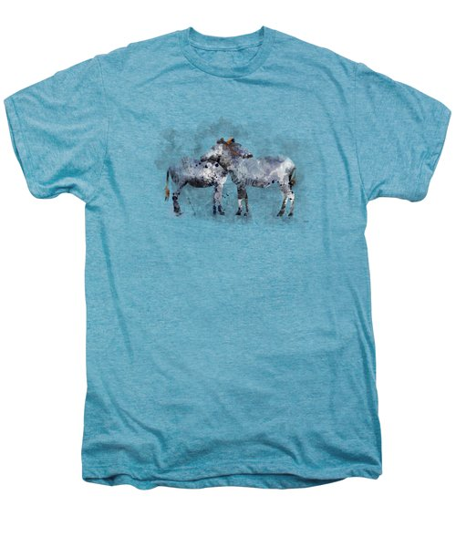 Zebras Men's Premium T-Shirt by Marlene Watson