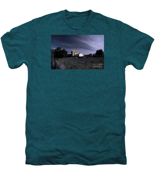 Men's Premium T-Shirt featuring the photograph Blue Night by Nareeta Martin