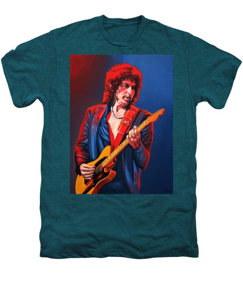 Bob Dylan Painting Men's Premium T-Shirt by Paul Meijering