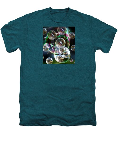 Men's Premium T-Shirt featuring the photograph Bubbles And More Bubbles by Nareeta Martin
