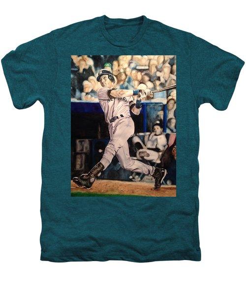 Derek Jeter Men's Premium T-Shirt by Lance Gebhardt