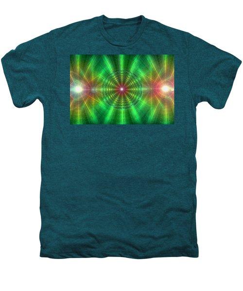 Earth Grid Six Men's Premium T-Shirt by Derek Gedney