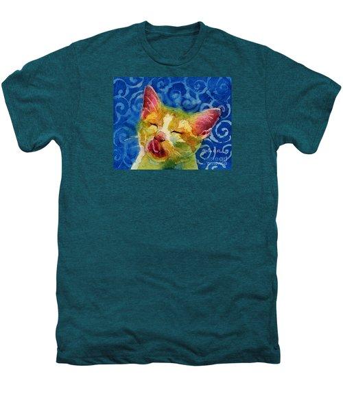 Happy Sunbathing Men's Premium T-Shirt by Hailey E Herrera