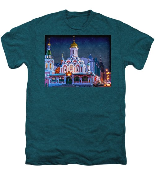 Kazan Cathedral. Red Square. Moscow Russia Men's Premium T-Shirt by Juli Scalzi