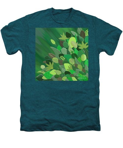Leaves Are Awesome Men's Premium T-Shirt by Linda Lees