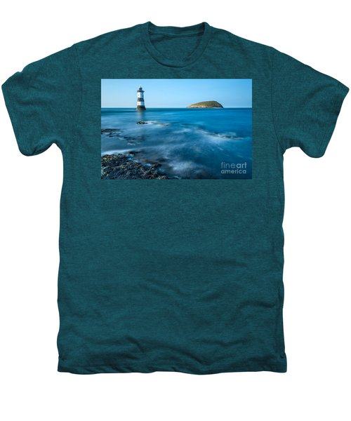 Lighthouse At Penmon Point Men's Premium T-Shirt