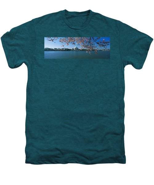 Monument At The Waterfront, Jefferson Men's Premium T-Shirt by Panoramic Images