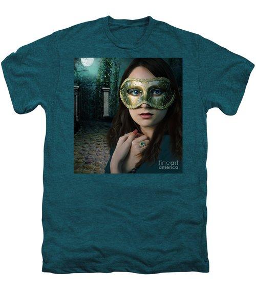 Moonlight Rendezvous Men's Premium T-Shirt