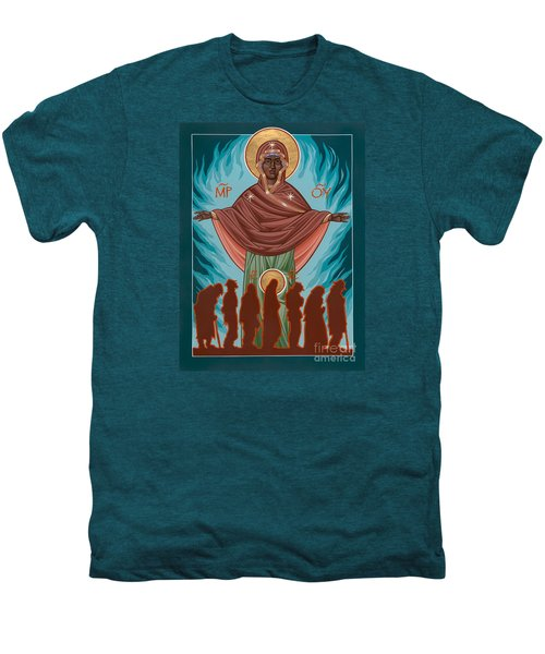 Mother Of Sacred Activism With Eichenberg's Christ Of The Breadline Men's Premium T-Shirt