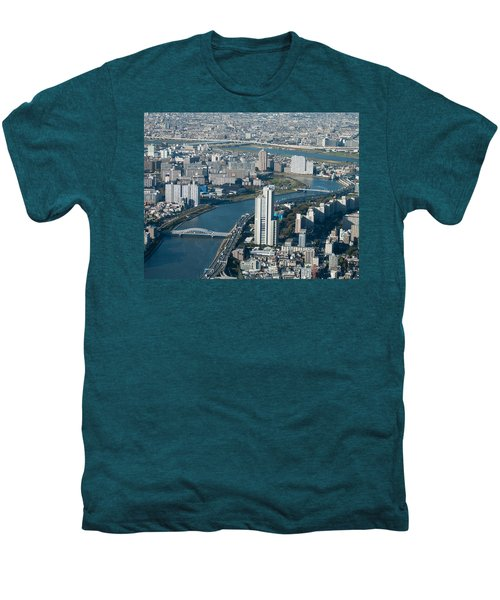 Panorama Of Tokyo Men's Premium T-Shirt by Jill Mitchell