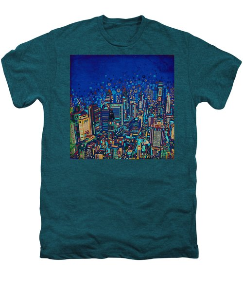 Philadelphia Panorama Pop Art 2 Men's Premium T-Shirt