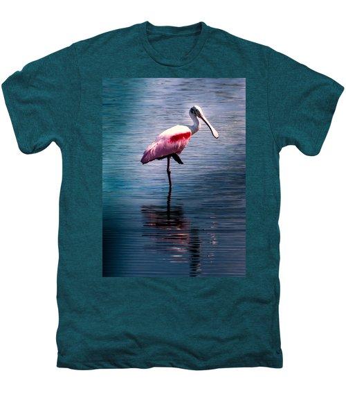Roseate Spoonbill Men's Premium T-Shirt by Karen Wiles