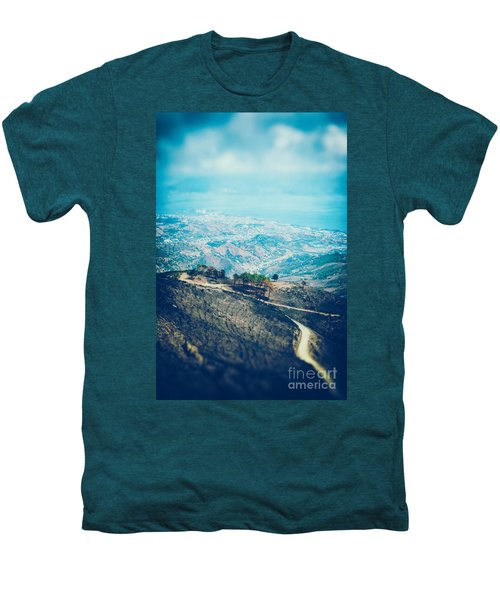 Men's Premium T-Shirt featuring the photograph Sicilian Land After Fire by Silvia Ganora