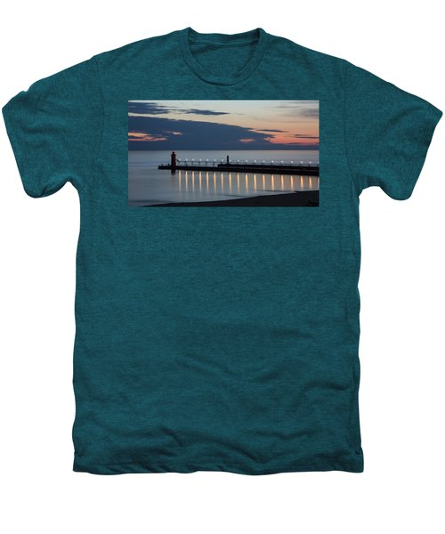 South Haven Michigan Lighthouse Men's Premium T-Shirt by Adam Romanowicz