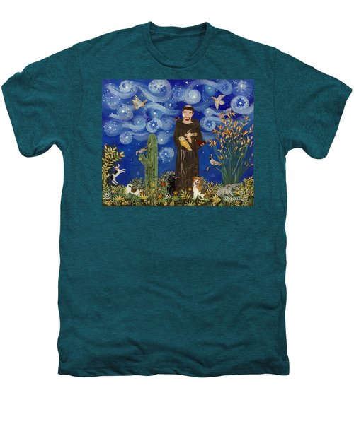 St. Francis Starry Night Men's Premium T-Shirt