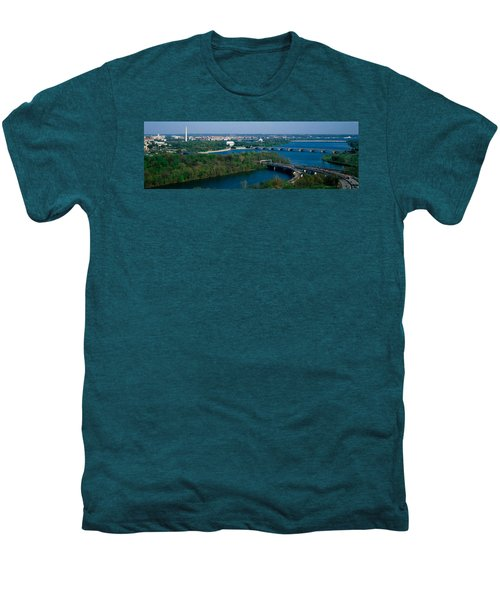 This Is An Aerial View Of Washington Men's Premium T-Shirt by Panoramic Images