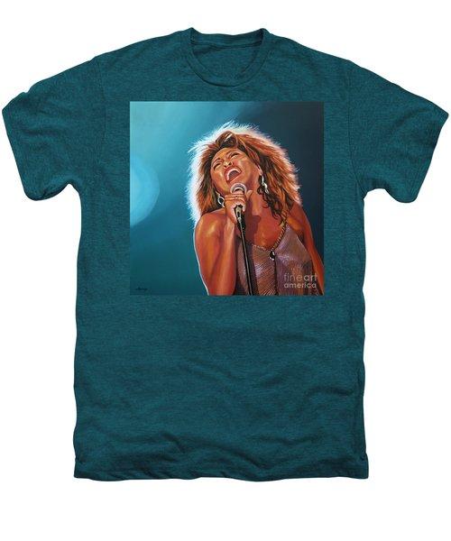 Tina Turner 3 Men's Premium T-Shirt by Paul Meijering