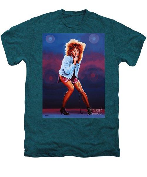 Tina Turner Men's Premium T-Shirt by Paul Meijering