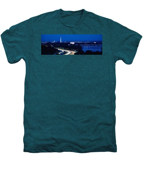 Traffic On The Road, Washington Men's Premium T-Shirt by Panoramic Images