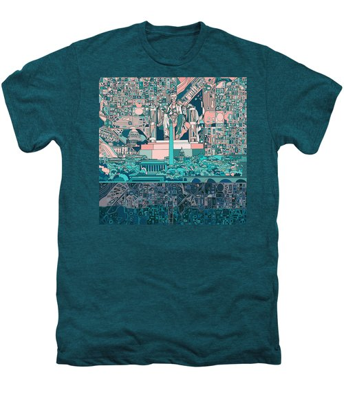 Washington Dc Skyline Abstract 5 Men's Premium T-Shirt