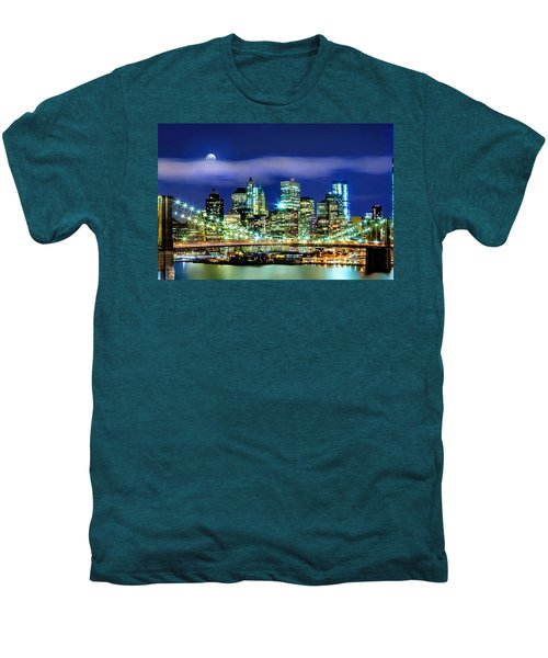 Watching Over New York Men's Premium T-Shirt by Az Jackson