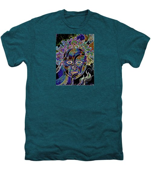 Men's Premium T-Shirt featuring the drawing Mythic Mask by Nareeta Martin
