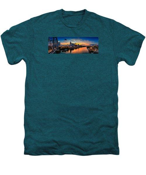 Nashville Skyline Panorama Men's Premium T-Shirt by Brett Engle