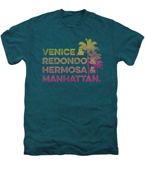 Venice And Redondo And Hermosa And Manhattan Men's Premium T-Shirt by SoCal Brand