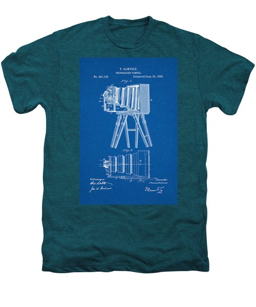 1885 Camera Us Patent Invention Drawing - Blueprint Men's Premium T-Shirt