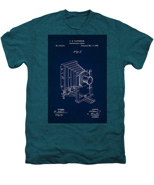 1888 Camera Us Patent Invention Drawing - Dark Blue Men's Premium T-Shirt