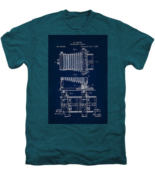 1897 Camera Us Patent Invention Drawing - Dark Blue Men's Premium T-Shirt