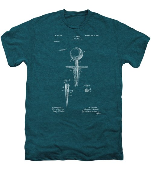 1899 Golf Tee Patent Artwork - Blueprint Men's Premium T-Shirt by Nikki Marie Smith