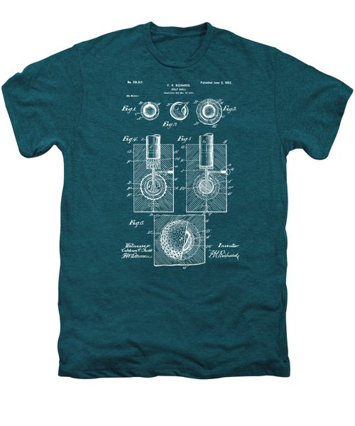 1902 Golf Ball Patent Artwork - Blueprint Men's Premium T-Shirt by Nikki Marie Smith