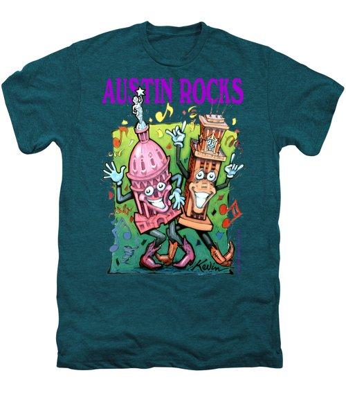 Austin Texas Cartoon Map Men's Premium T-Shirt