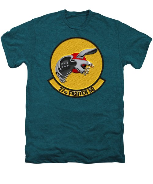 27th Fighter Squadron - 27 Fs Over Blue Velvet Men's Premium T-Shirt