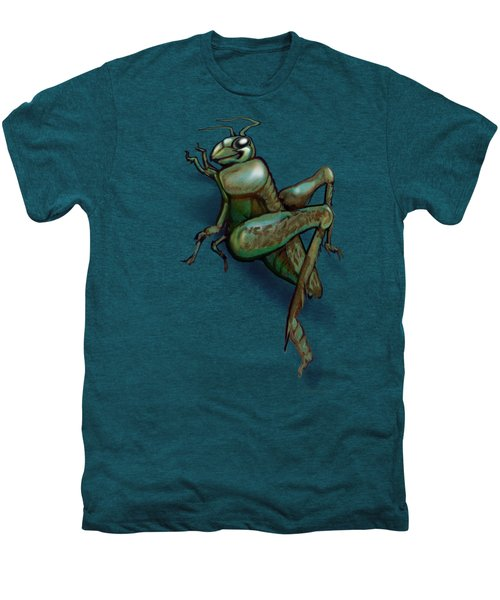 Grasshopper Men's Premium T-Shirt by Kevin Middleton