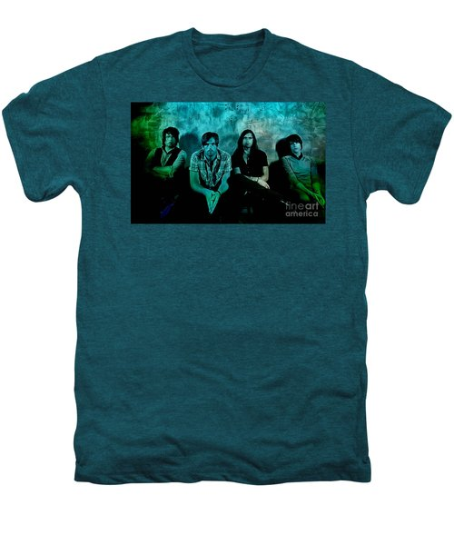 Men's Premium T-Shirt featuring the mixed media Kings Of Leon by Marvin Blaine