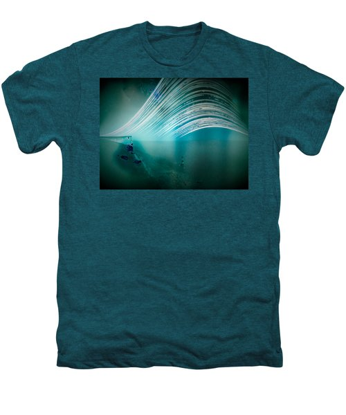 6 Month Exposure Overlooking The Beachy Head Lighthouse Men's Premium T-Shirt